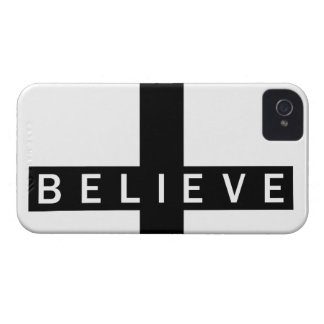 Believe Cross Horizontal iPhone 4/4S Barely There iPhone 4 Case-Mate Case