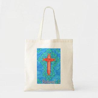 Believe! Cross Tote Bag