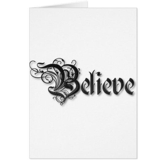 Believe Design 2 Card
