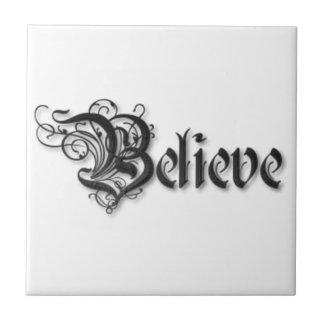 Believe Design 2 Ceramic Tile