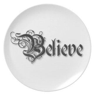 Believe Design 2 Dinner Plate