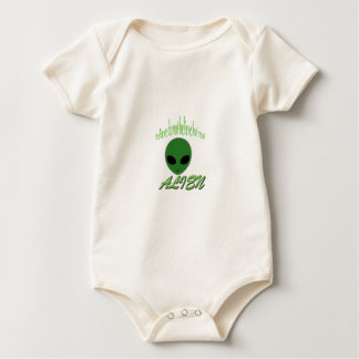 Believe Do Not Believe But Real Alien Baby Bodysuit