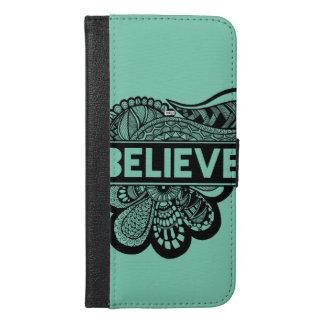 Believe Doodle phone wallet case