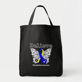 Believe Down Syndrome Awareness Grocery Tote Bag