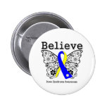 Believe Down Syndrome Awareness 2 Inch Round Button