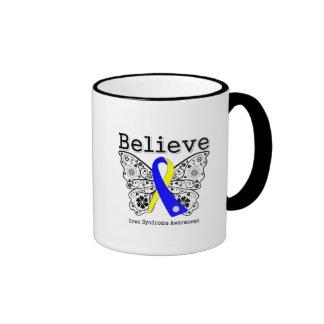 Believe Down Syndrome Awareness Ringer Coffee Mug