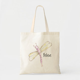 Believe Dragonfly Tote Bag