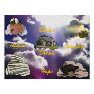 Believe, Dream, Hope, Affirm, Visualize Poster