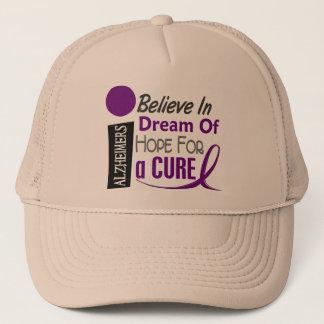 BELIEVE DREAM HOPE Alzheimer's Disease T-Shirts Trucker Hat