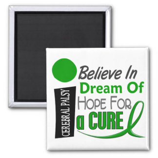 BELIEVE DREAM HOPE Cerebral Palsy 2 Inch Square Magnet