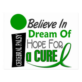 BELIEVE DREAM HOPE Cerebral Palsy Postcard