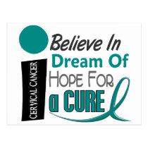 BELIEVE DREAM HOPE Cervical Cancer Postcard