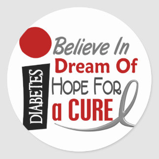 BELIEVE DREAM HOPE Diabetes T-Shirts & Apparel Classic Round Sticker