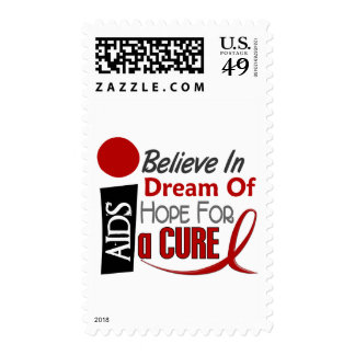 BELIEVE DREAM HOPE HIV / AIDS T-Shirts & Apparel Postage Stamps