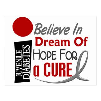 BELIEVE DREAM HOPE Juvenile Diabetes T-Shirts Postcard