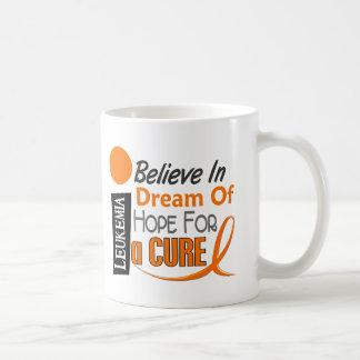 BELIEVE DREAM HOPE Leukemia T-Shirts & Apparel Classic White Coffee Mug
