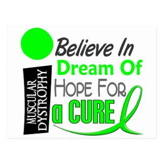 BELIEVE DREAM HOPE Muscular Dystrophy T-Shirts Postcard