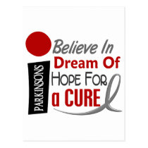 BELIEVE DREAM HOPE Parkinson's Disease Postcard