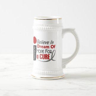 BELIEVE DREAM HOPE Parkinson's Disease T-Shirts 18 Oz Beer Stein
