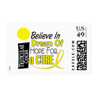 BELIEVE DREAM HOPE Testicular Cancer T-Shirts Stamps