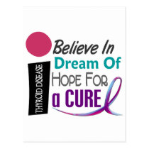 BELIEVE DREAM HOPE Thyroid Disease T-Shirts Postcard