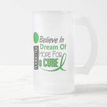 Believe Dream Hope Tourette's Syndrome Frosted Glass Beer Mug