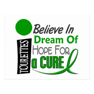Believe Dream Hope Tourette's Syndrome Postcard