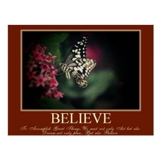 Believe, Dream Postcard