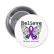 Believe Epilepsy Awareness 2 Inch Round Button