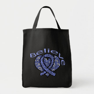 Believe Esophageal Cancer Tote Bag