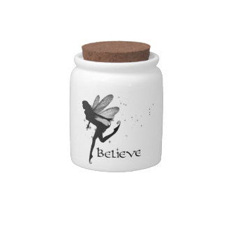 Believe Fairy Cookie Jar Candy Dishes