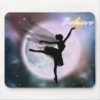 Believe fairy dance mousepad