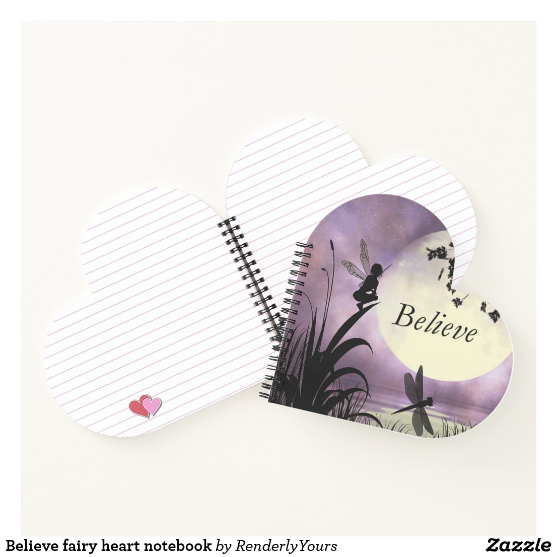 Believe fairy heart notebook