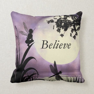 Believe fairy moon pillow