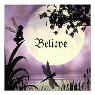 Believe fairy print