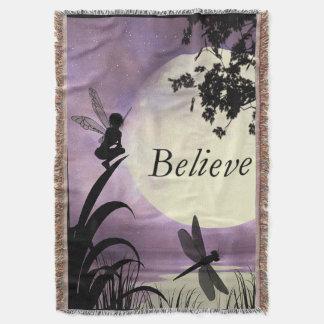 Believe fairy Throw Blanket