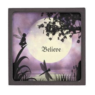 Believe fairy trinket box