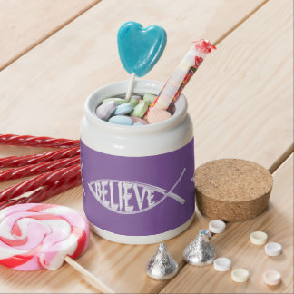 Believe Fish Lavender Candy Dishes