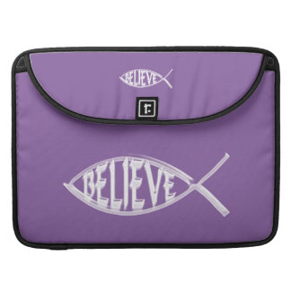 Believe Fish Lavender Sleeve For MacBooks