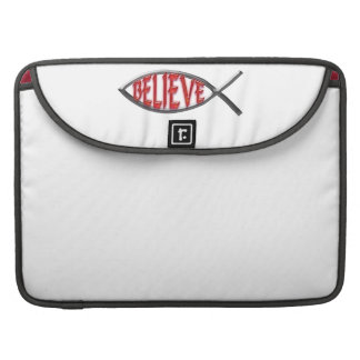 Believe Fish- Red Sleeve For MacBook Pro