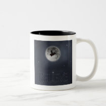 Believe-Flying pig Two-Tone Coffee Mug