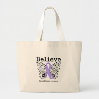 Believe - General Cancer Butterfly Tote Bags