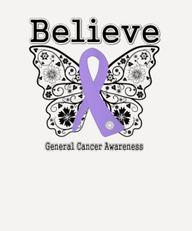 Believe - General Cancer Butterfly Tshirts