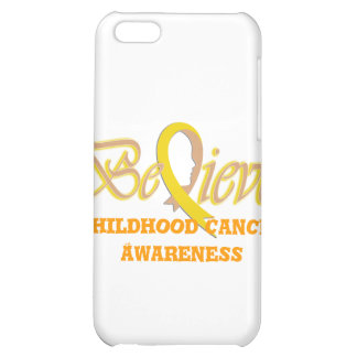 """Believe"" Gold Ribbon Collection iPhone 5C Cover"