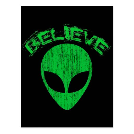 Green Alien Head Believe - green alien head