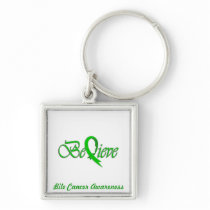 """""""Believe"""" Green Ribbon Collection Keychain"""
