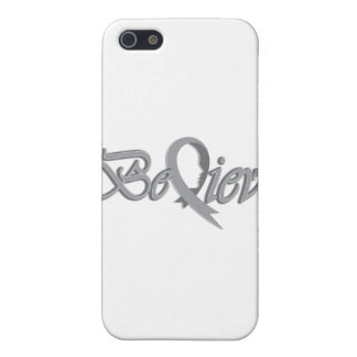 Believe Grey iPhone SE/5/5s Cover