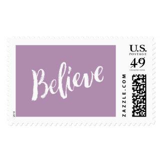 Believe - Hand Lettering Typography Design Stamp