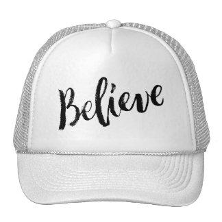 Believe - Hand Lettering Typography Design Trucker Hat