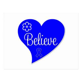 Believe Heart Anal Cancer Postcard